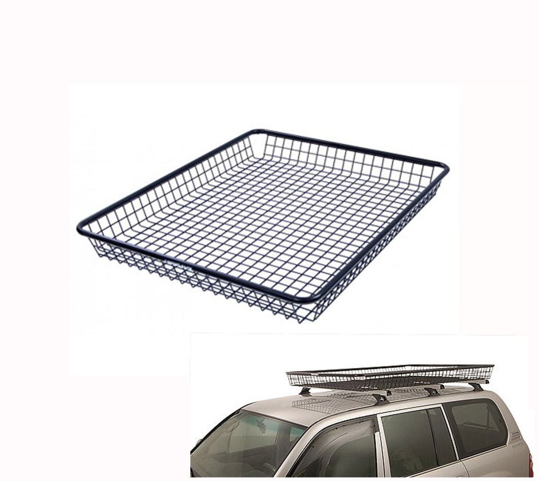 Car Roof Basket Cage (Small)   118x95x11cm Black Powdercoated