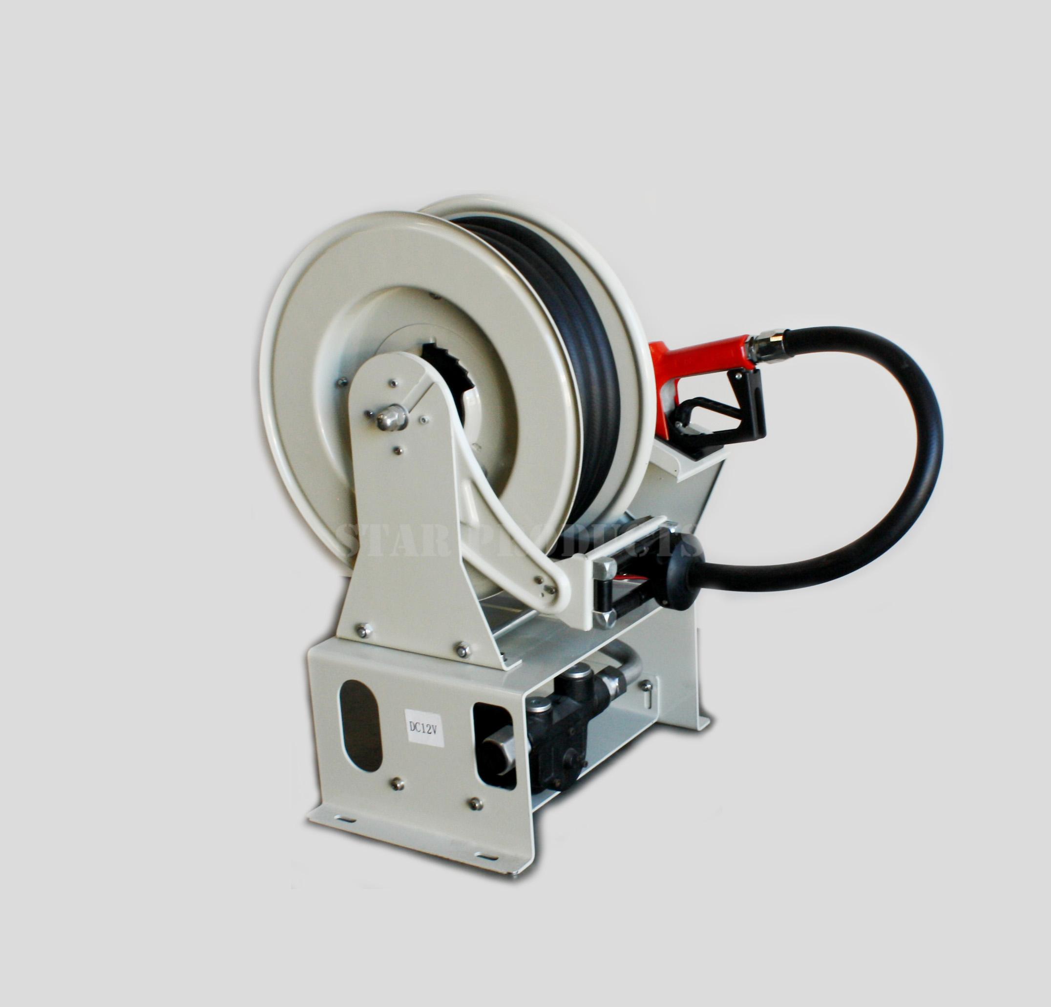 Diesel Fuel Hose Reel 10M (3/4″) with inbuilt 12V Pump +